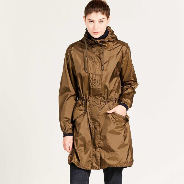 Long packable parka