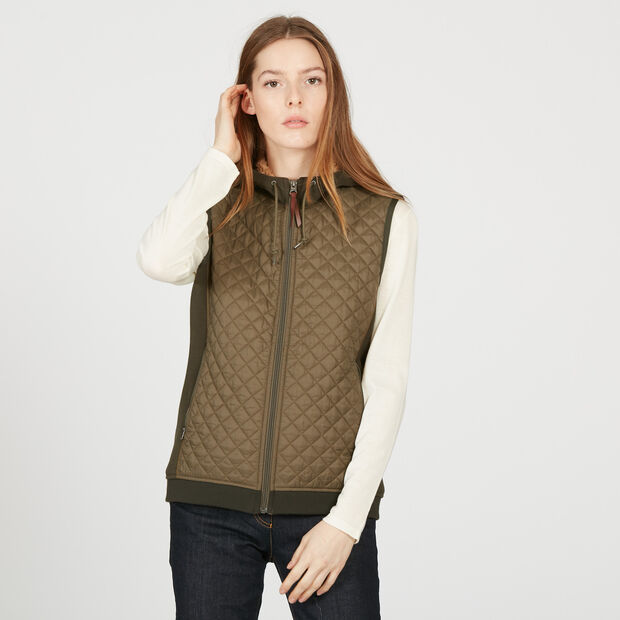 Quilted fleece bodywarmer
