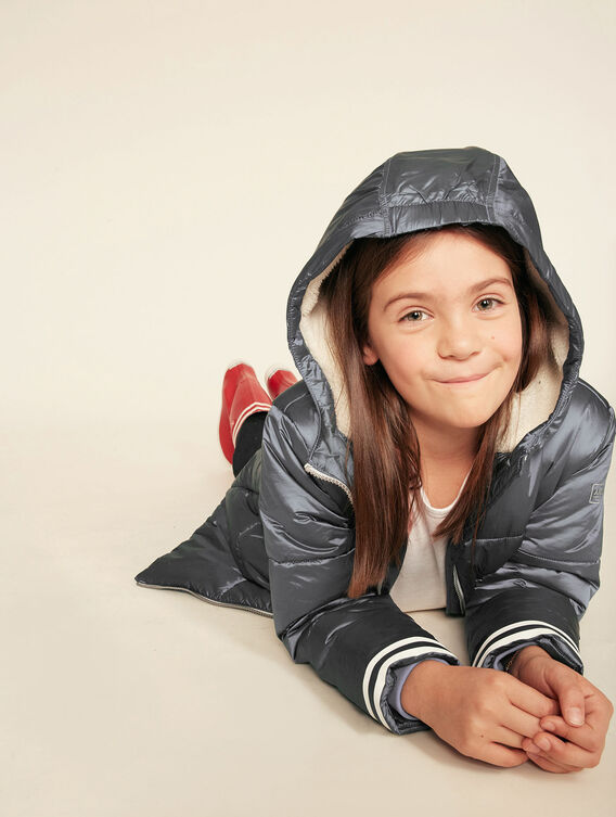 Girl's warm quilted jacket