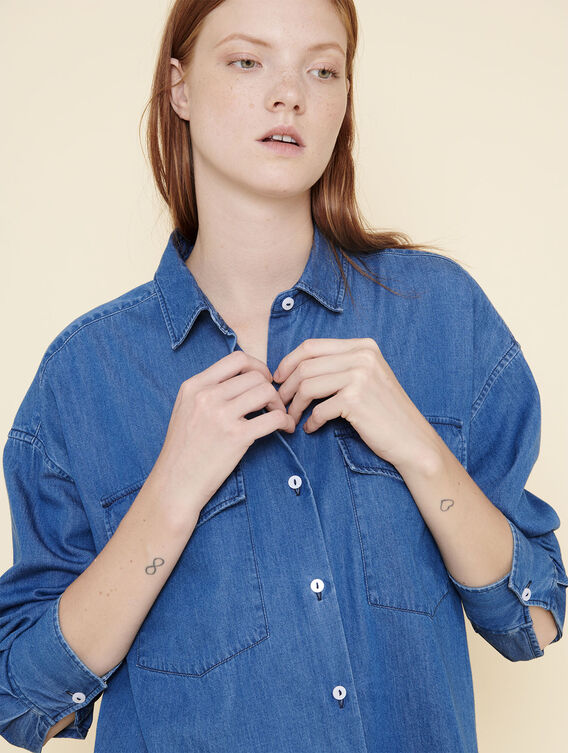 Lightweight denim shirt