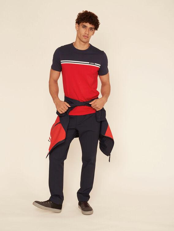 Tee-shirt coton deux bandes
