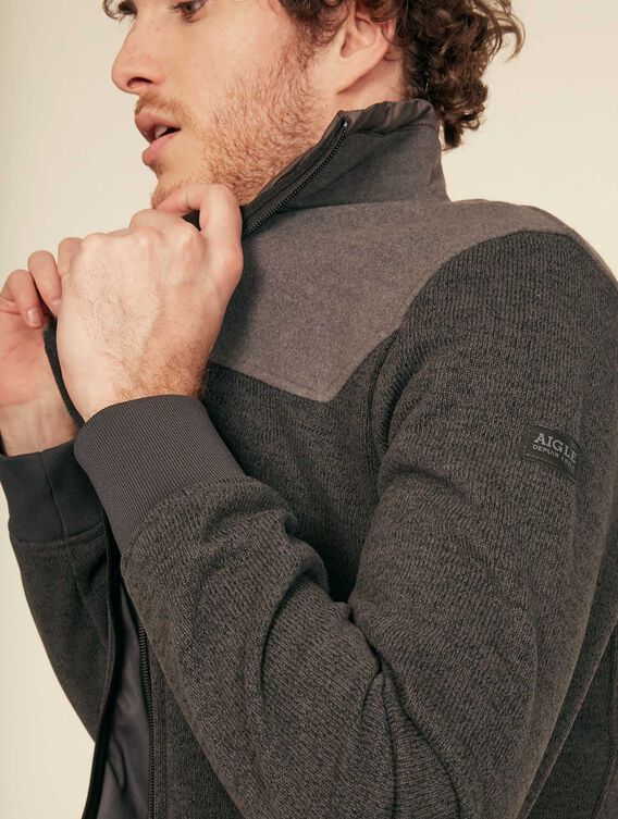 Wool-effect fleece jacket