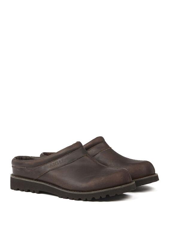 Men's leather clogs