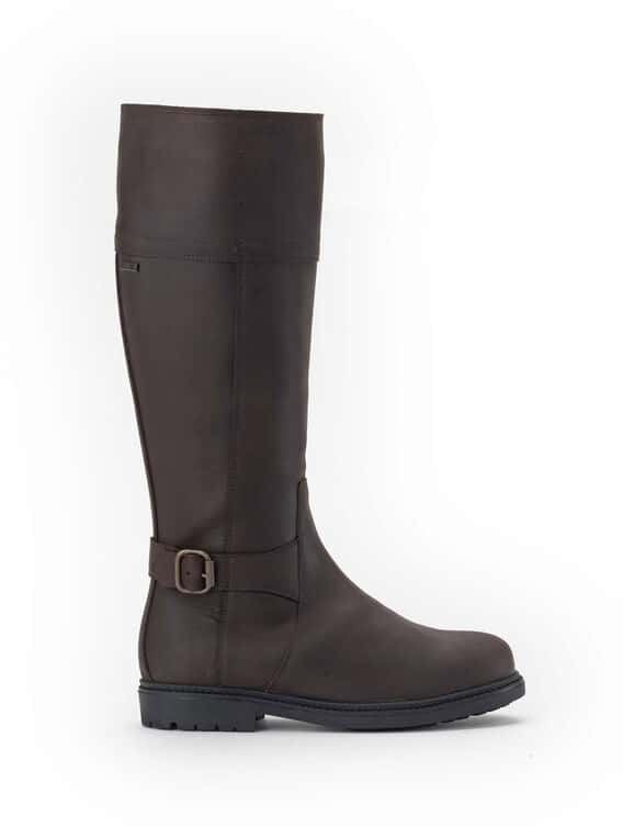 Women's fleece-lined leather boots