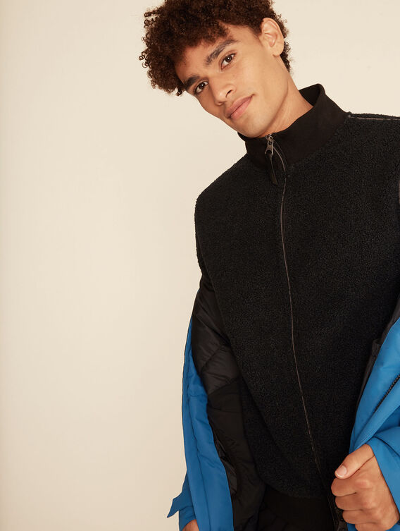 All-over sheepskin teddy jacket