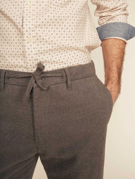Pantalon relax en lainage