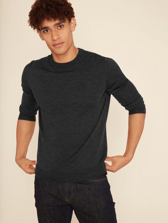 Basic-Pullover aus Merinowolle