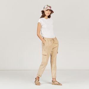 Pantalon en lyocell mélangé