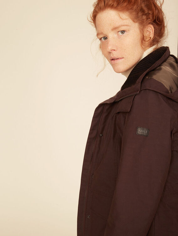 Hunting-style waterproof parka