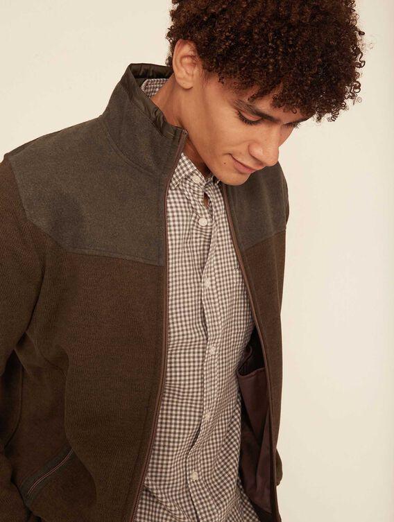 Wool-effect fleece jacket