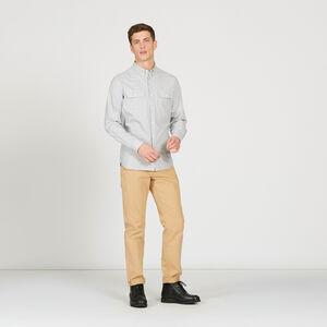 Chemise ajustée en coton fil à fil