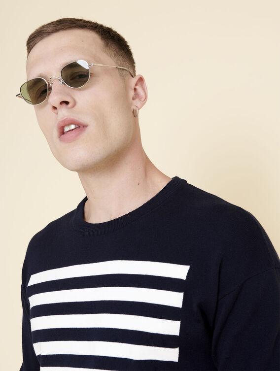 Pullover im Marine-Look