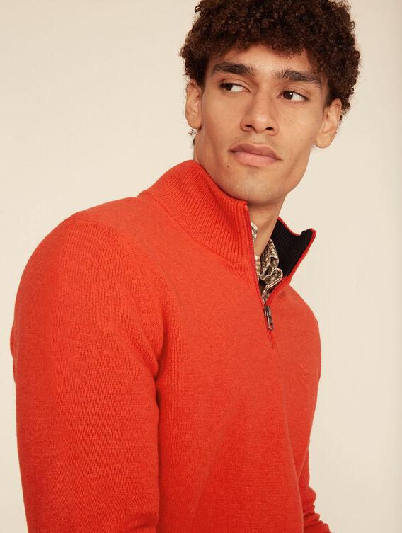 Pullover aus Merinowolle mit Stehkragen