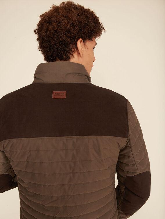Hunting-inspired padded jacket