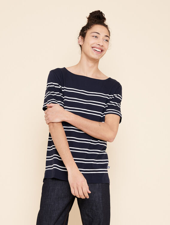 Short-sleeved sailor's top