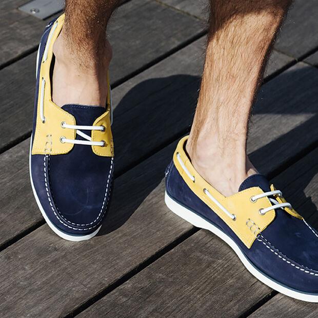 Chaussures bateaux souple pour homme