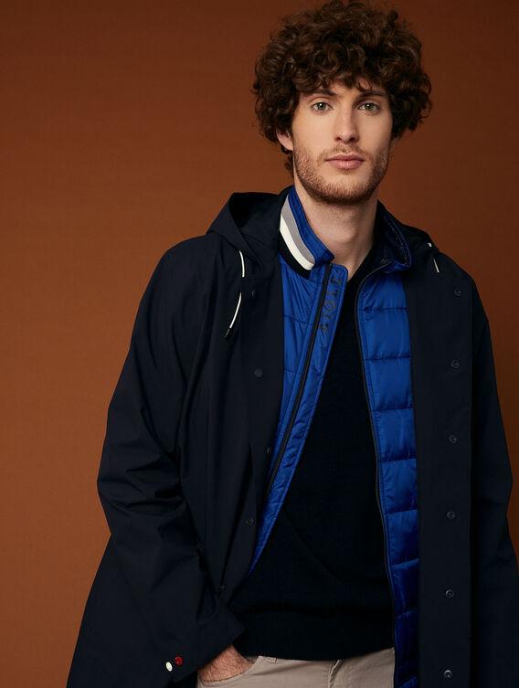 Long lightweight waterproof jacket