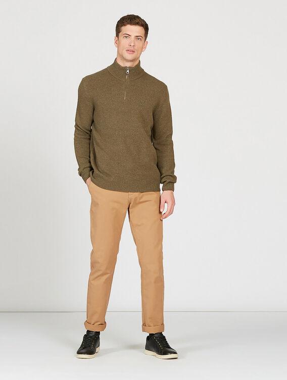 Merino wool full-zip jumper