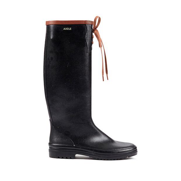 Women's packable rubber boots