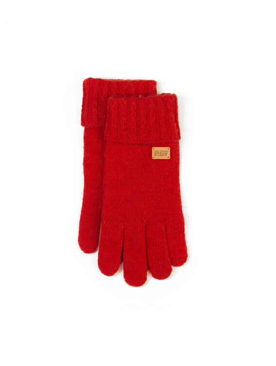 Women's warm wool gloves