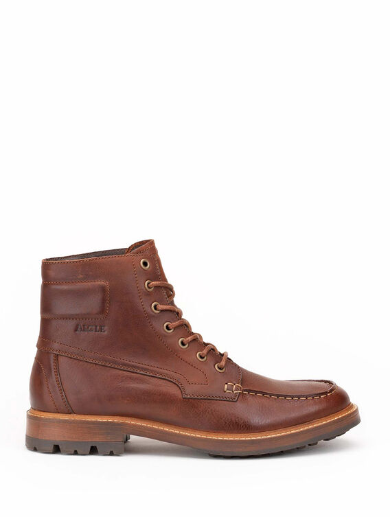 Men's leather high-cut ankle boots