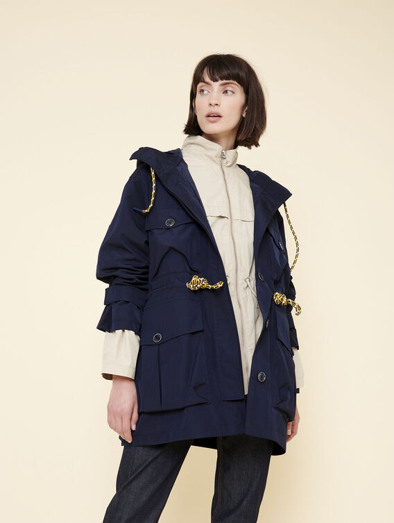 Waterproof oversized jacket