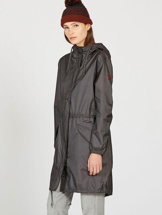 Packable rain parka