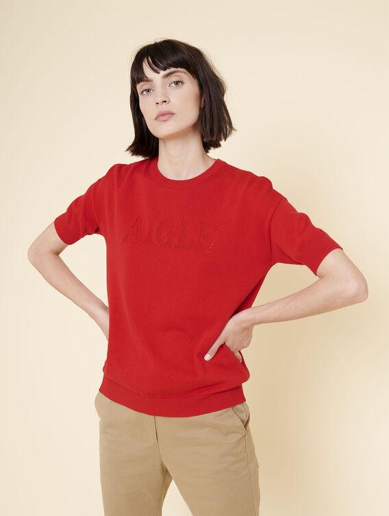 Short-sleeved jumper
