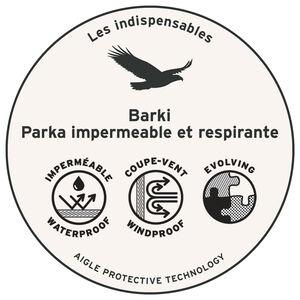 Parka bi-matieres, imperméable et respirante