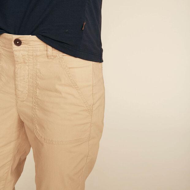 Pantacourt stretch en coton