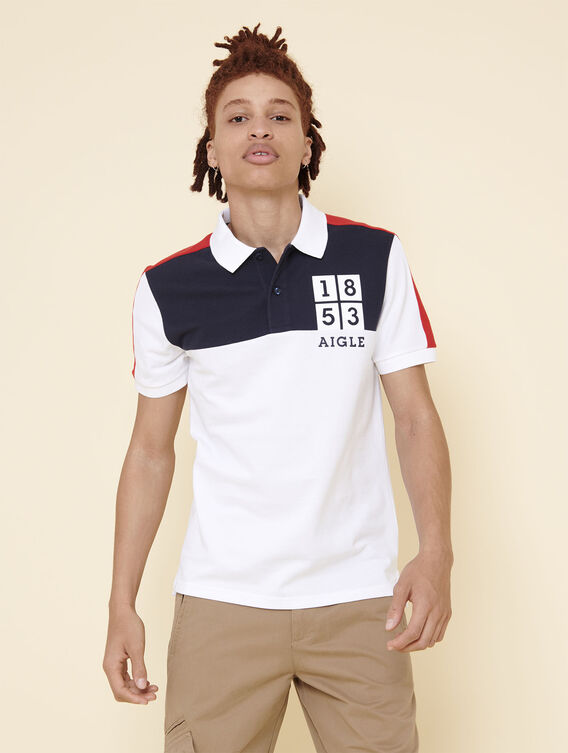 Nautical-inspired polo shirt