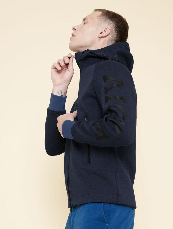 Sweatshirt aus Fleece mit Reißverschluss