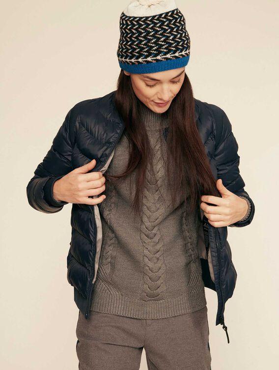 Warm water-repellent quilted jacket
