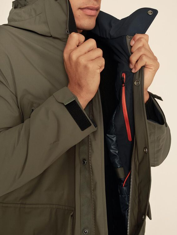Waterproof parka, perfect for riding a scooter