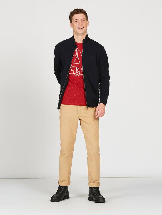 Basic zipped cardigan