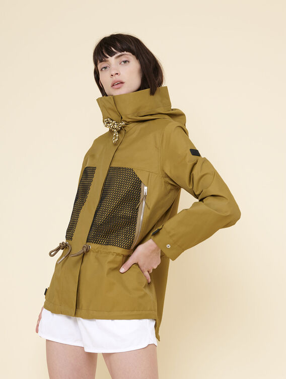 Short, waterproof parka