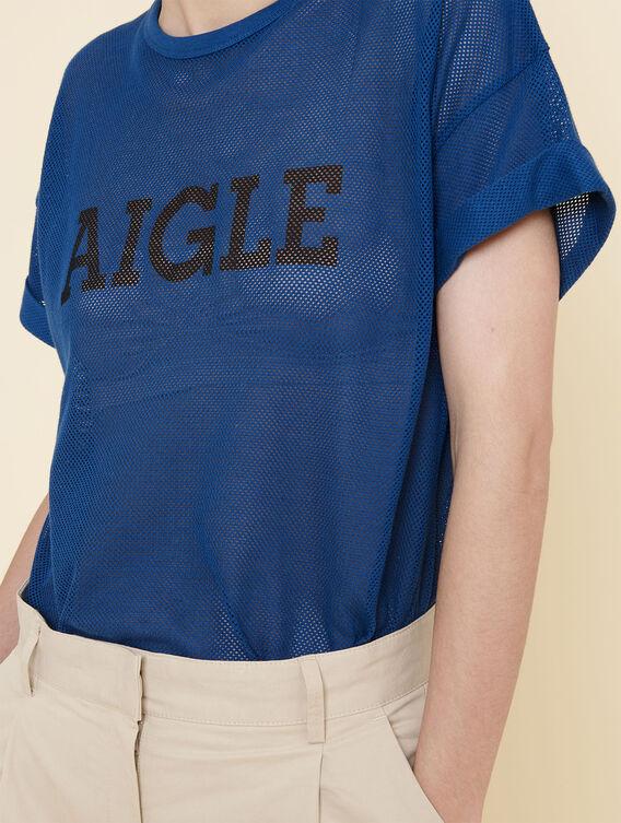 Oversized mesh T-shirt