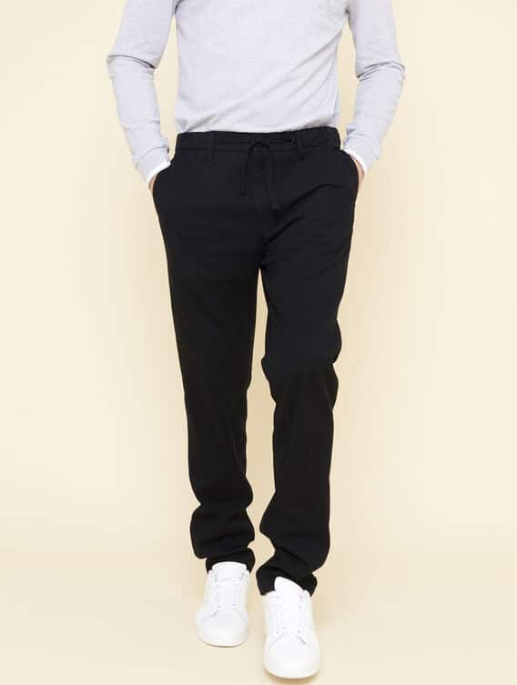 Relaxed-fit wool trousers