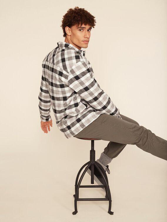Fleece-lined overshirt