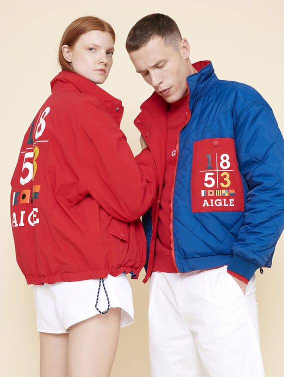 Unisex waterproof reversible jacket