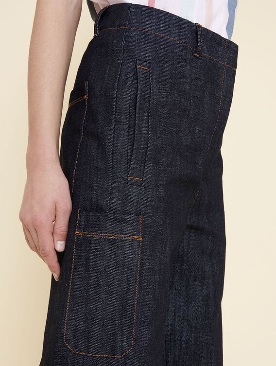 Carrot fit cropped jeans