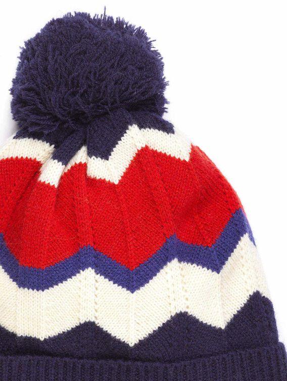 Jacquardmütze aus Wolle für Damen