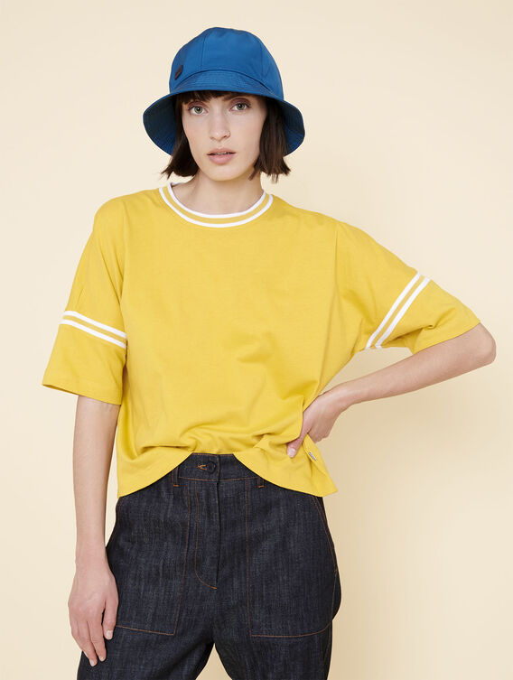 Oversized short-sleeved T-shirt