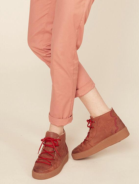 Chaussures en cuir fourrées Femme