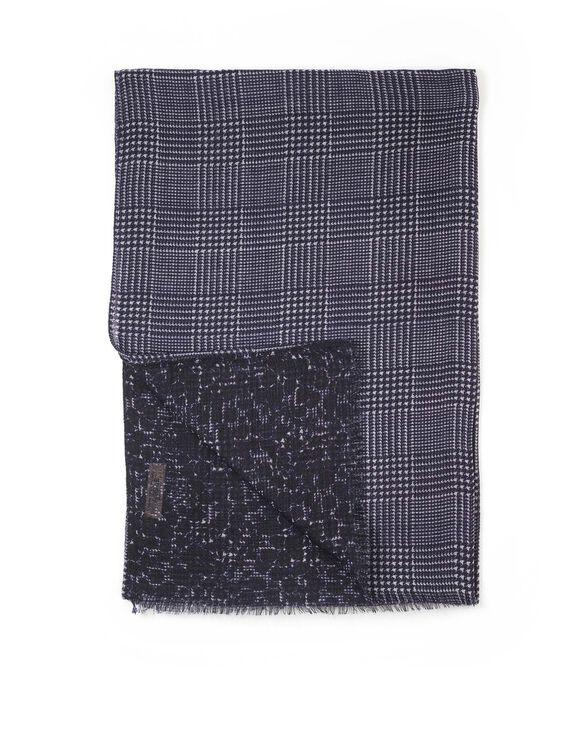 Women's printed wool scarf