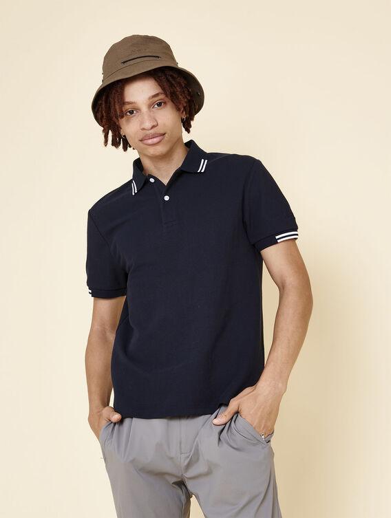 Thermo-regulating cotton polo shirt