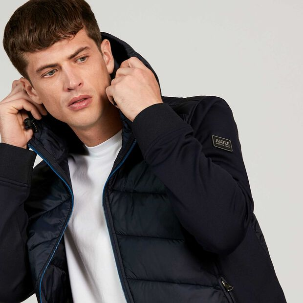 Fleece jacket with heat regulation