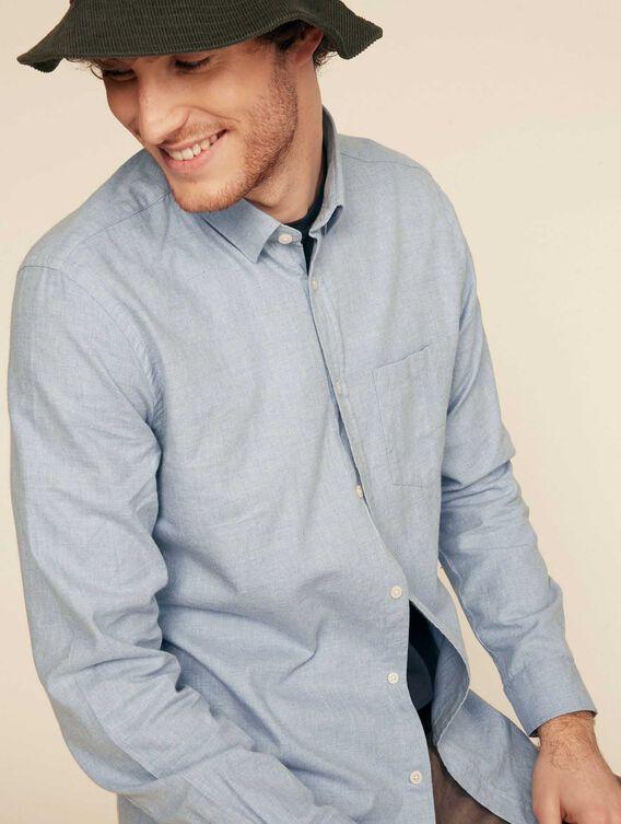 Slim-fit flannel shirt