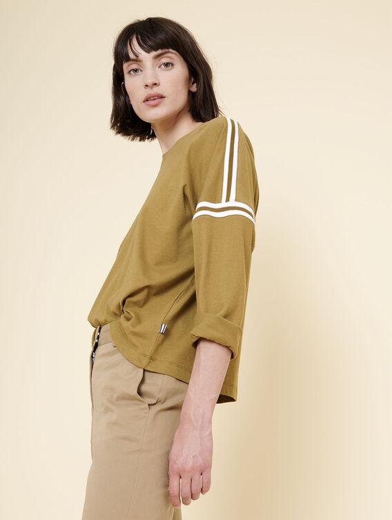 T-shirt manches 3/4 oversize