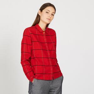 Chemise à grands carreaux